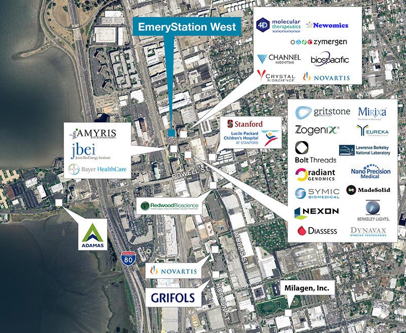 Emeryville Life Science Tenants